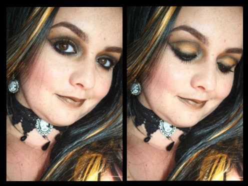 Soft Rocking pumpkin makeup look