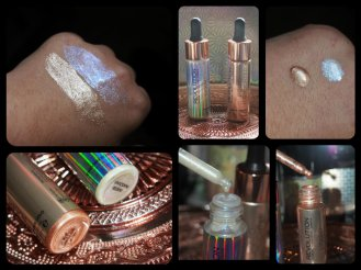 makeup revolution liquid highlighters liquid luminous gold/unicorn elixir