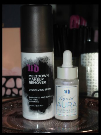 meltdown makeup remover & liquid aura illuminating mix in medium