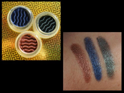 magnetic eyeshadow 03 Power Copper/05 Blue Memory/06 Thinking Green